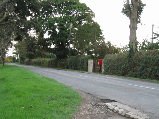 Postbox by country road