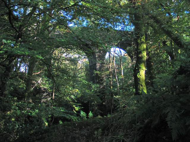 Railway viaduct over Afon Cynfal