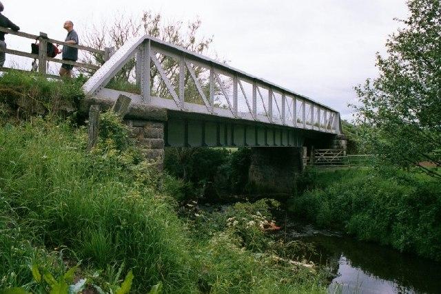 Railway bridge over River Churnet, Leek, North Staffs.