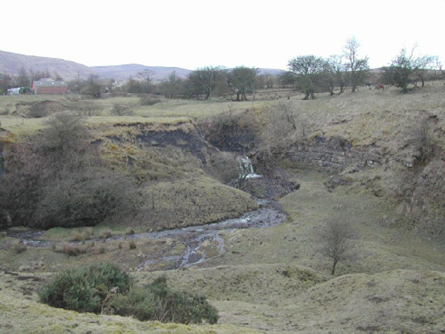 Waterfall, Clowsgill Quarry, Nr Bampton, Cumbria
