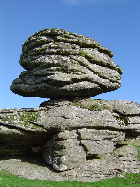Logan stone at Thornworthy Tor