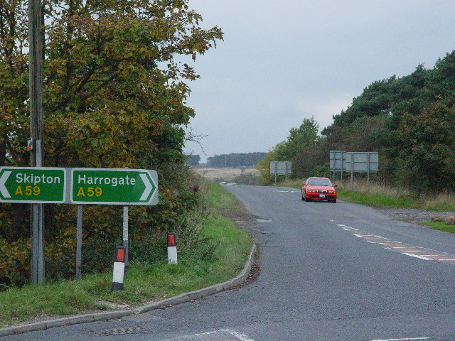 Road past RAF Menwith Hill