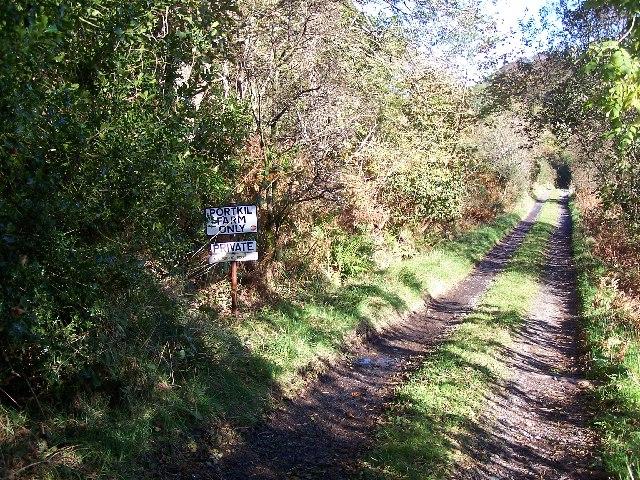 Road to Portkil Farm