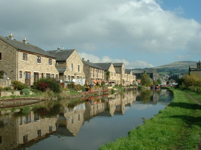 Modern Property on old wharf  Leeds & Liverpool Canal Silsden