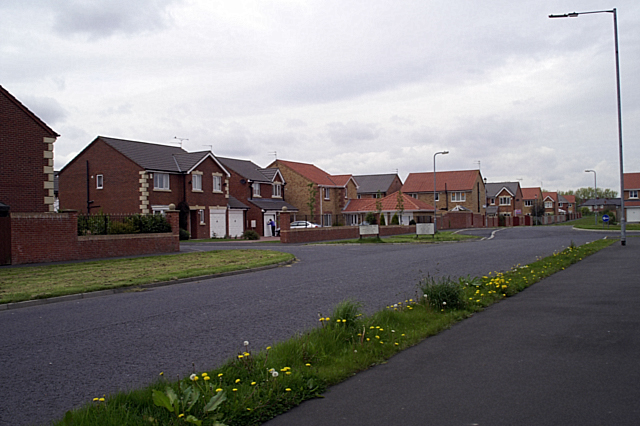New housing estates south west of Blyth