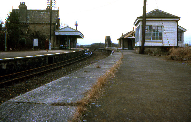 Bere Alston railway station 1979