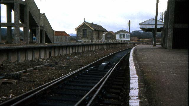 Bere Alston railway station 1979