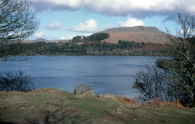 Burrator reservoir from Yennadon Down