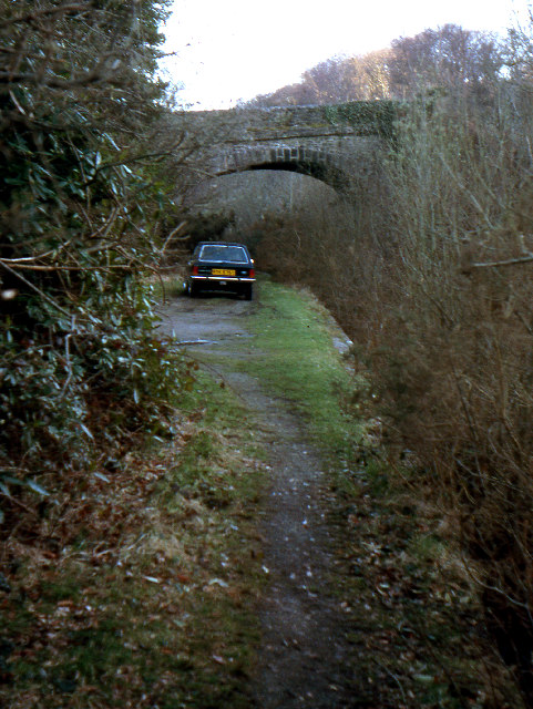 Shaugh Bridge Railway Halt  1979
