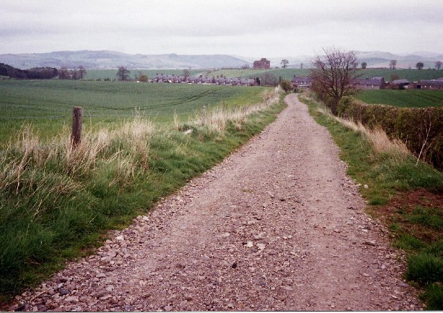 St Cuthbert's Way looking east towards Cessford