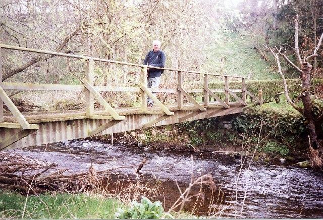 St Cuthbert's Way. Bridge across Kale Water