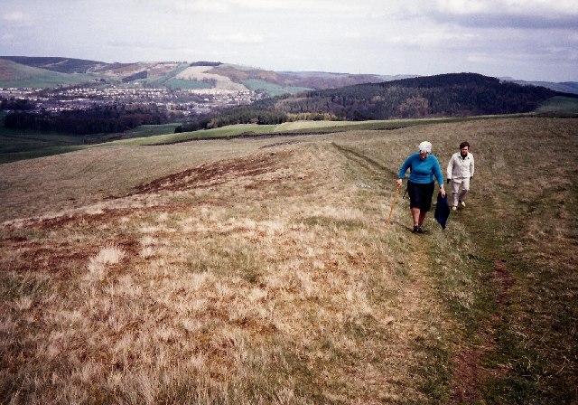 Southern Upland Way, looking towards Galashiels