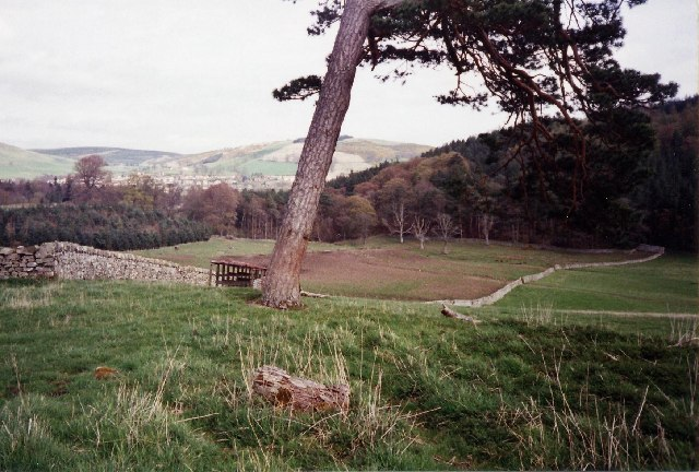 The Southern Upland Way at the foot of Gala Hill