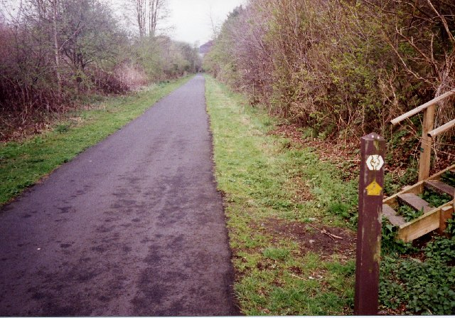 The Southern Upland Way follows the route of the old railway to Galashiels