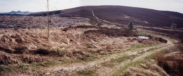 The Southern Upland Way near the Three Brethren