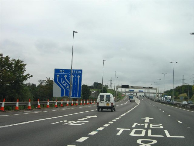 M6/M6 Toll Junction Southbound