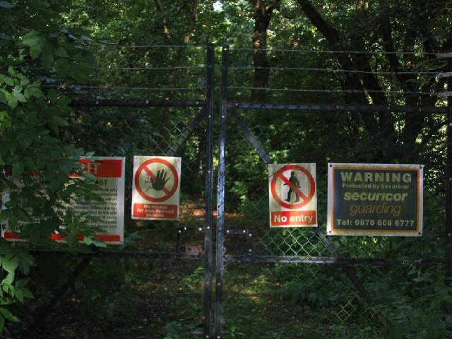 Warning Signs in Delamere Forest