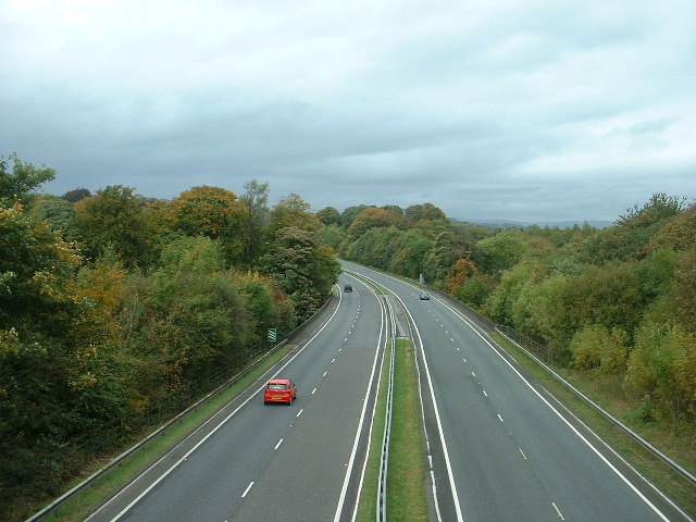 The A590(T) near Kendal