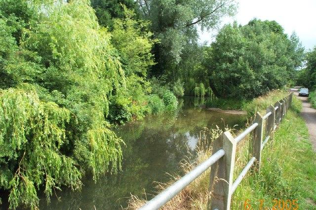 River Rib, Papermill Lane ford, Standon
