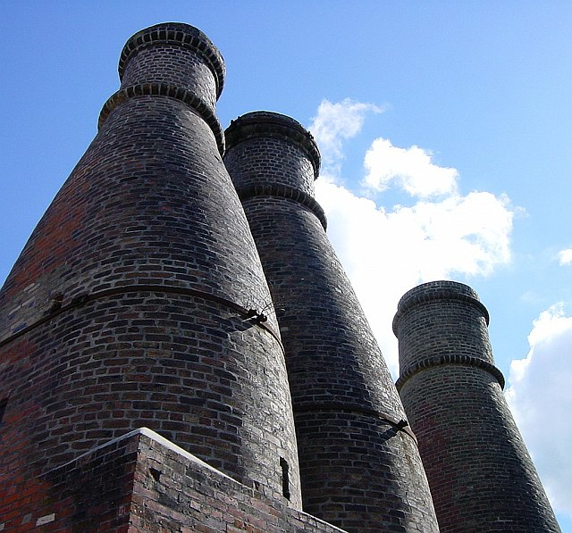 Bottle kilns at the old pottery
