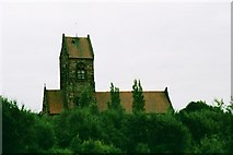 SJ4098 : Kirkby, St Chad - view from Millennium Park by S Parish