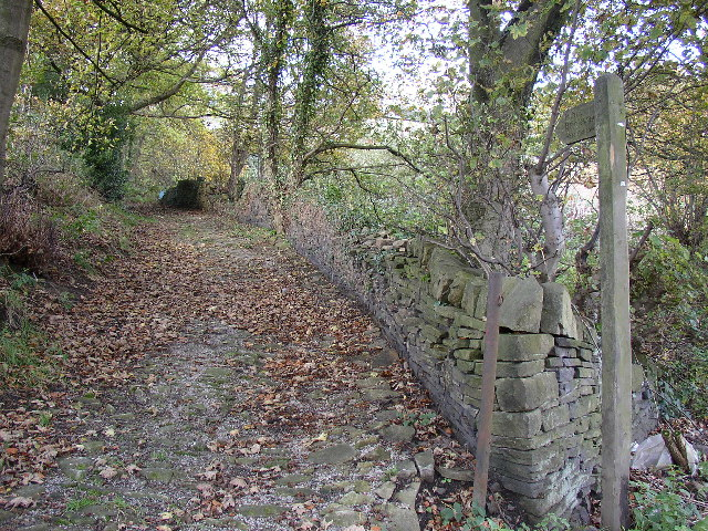 Bridleway at Wood End, Barkisland