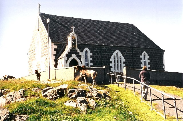 Eriskay Church and Ponies