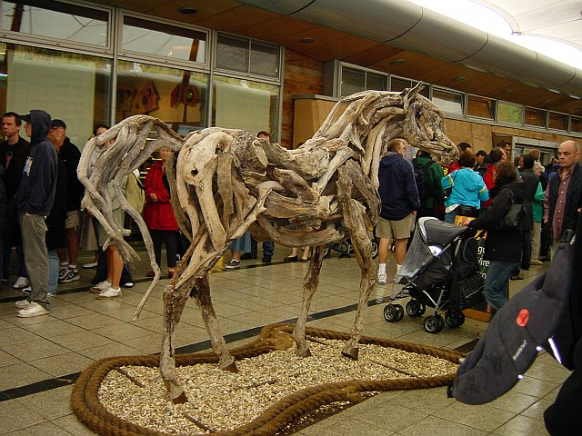 Cork and Driftwood Horse