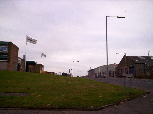 The Road into  Hospitalfield Industrial Estate
