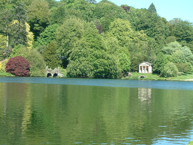 Stourhead Gardens in the spring