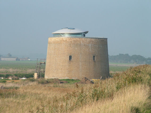 Martello Tower with not-quite-original features added.