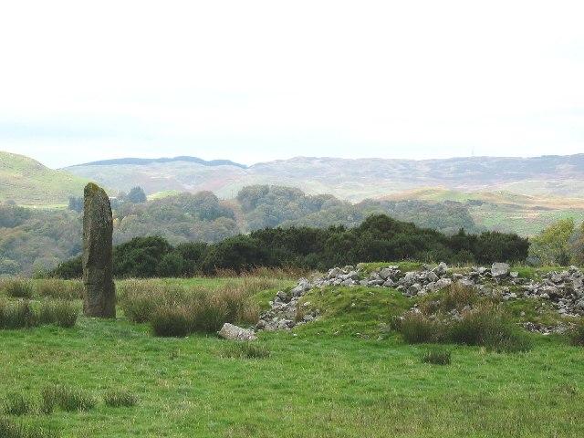 Kintraw standing stone, Argyll.