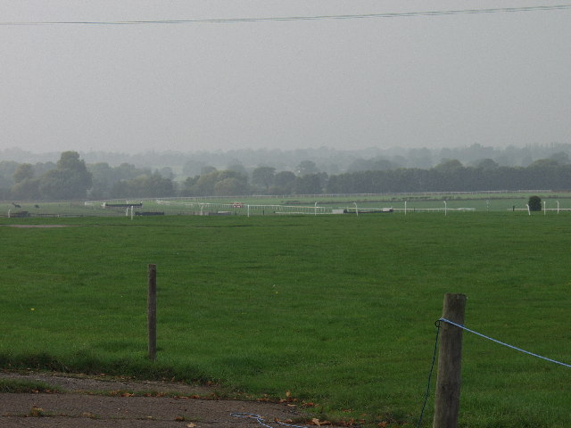 The western end of Bangor-is-y-coed Race Course