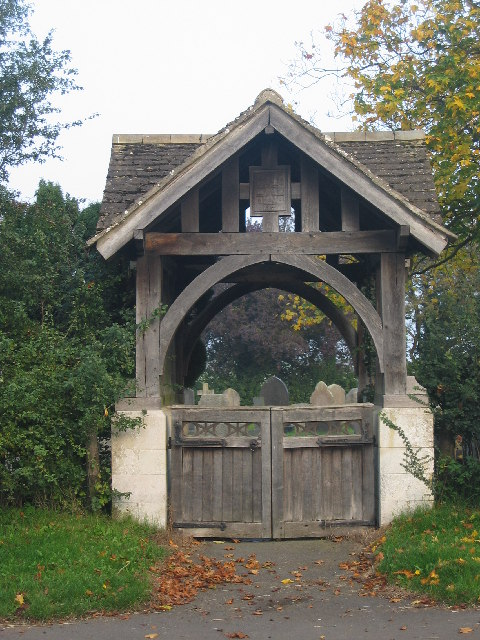 Lych gate, Town End cemetery, Somerby, Leicestershire