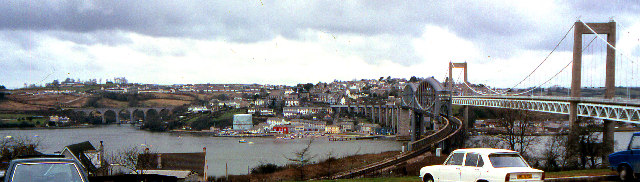 Saltash from the Devon side