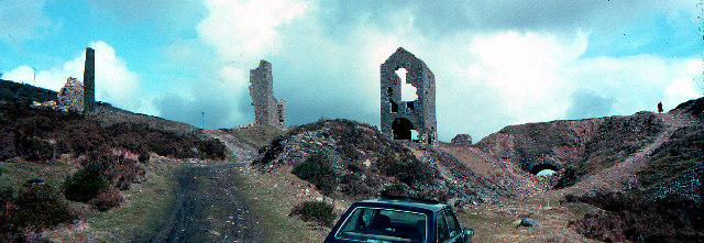 Disused copper mining buildings, South Caradon mines 1979