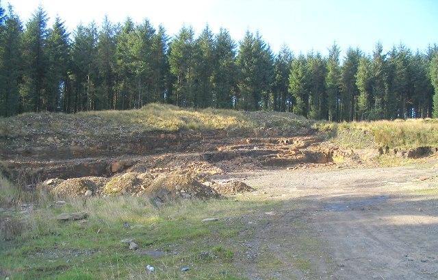 Small quarry in Craig Y Llyn forest