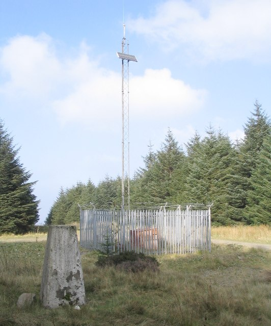 Disused trig point at Craig Y Llyn