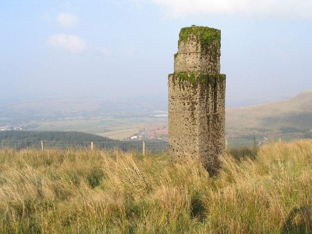 Concrete Pillar on Craig Y Llyn