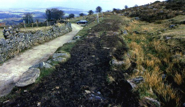 Former railway trackbed, Sharptor