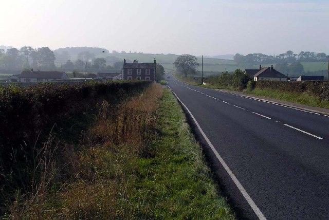 The A596 at High Scales, near Aspatria