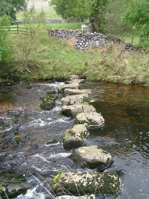 Stepping stones, River Doe