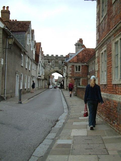 Street near Salisbury Cathedral