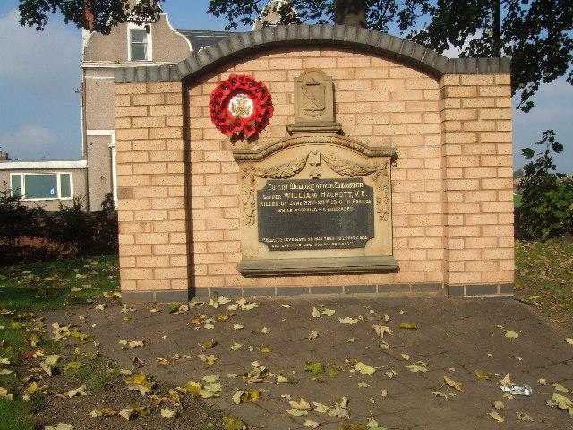 Memorial to Sapper William Hackett VC