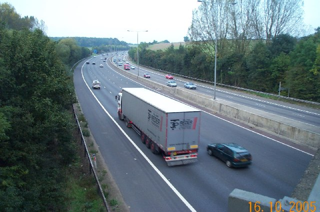 M25 Motorway from the Solesbridge Lane overbridge