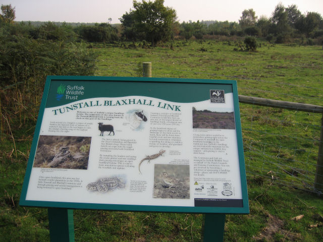 Sign describing the Suffolk Wildlife Trust's Conservation Area