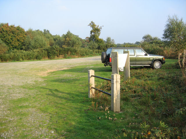 Car (and Cycle) park at Sandgalls Picnic Area