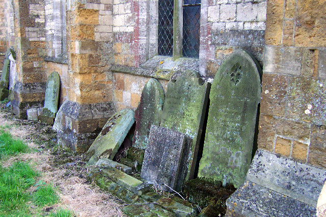 Beelsby Church - Stacked Gravestones