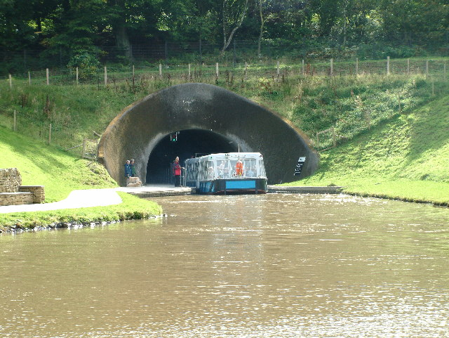 Canal Tunnel at the top of the Falkirk Wheel