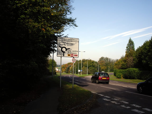 Pitt Roundabout, west of Winchester